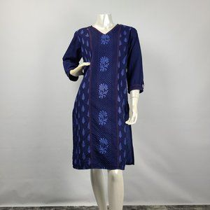 Tips & Tops Blue Tunic Top Size M